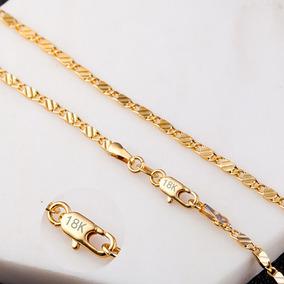 87e48927a067 Mujeres Hombres Niños 18k Oro Plateado 2 Mm Collar De Cadena