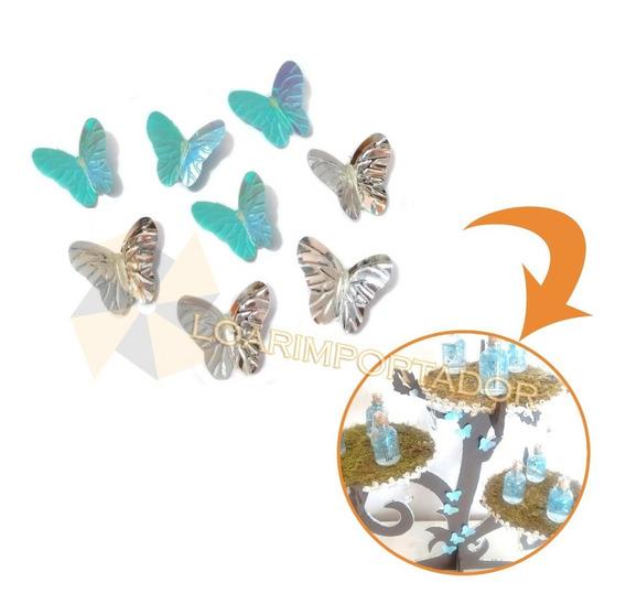 100 Mariposas Tornasolada Deco Shabby Vestidos