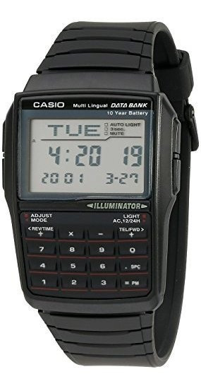 Casio, Dbc32-1a Banco De Datos, Reloj Digital Negro