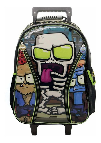 Mochila Con Carro Zombie Infection 18 Pulgadas Infantil App
