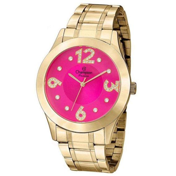 Relógio Feminino Champion Analógico Cn29178l - Dourado