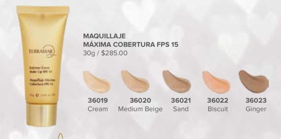 Maquillaje Maxima Cobertura Fps 15 Terramar