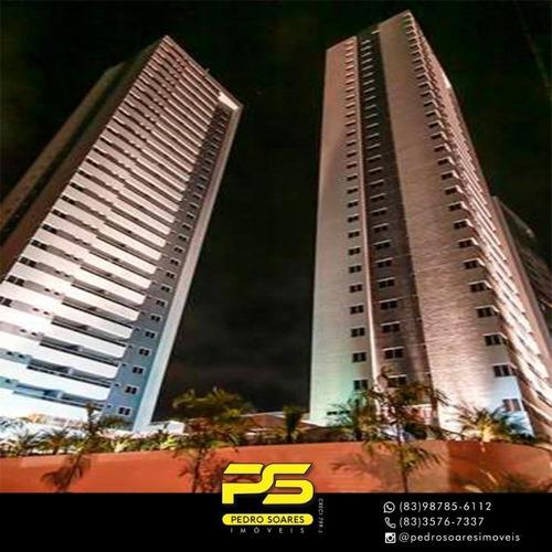 ( Mobiliado ) Apartamento Com 3 Dormitórios À Venda, 125 M² Por R$ 850.000 - Manaíra - João Pessoa/pb - Ap3120