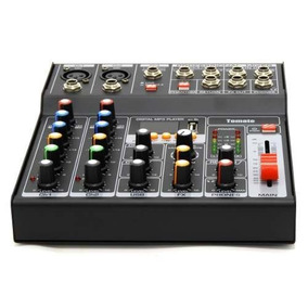 Mesa De Som Mixer 7 Canais Bluetooth Efeitos Digital Usb P10