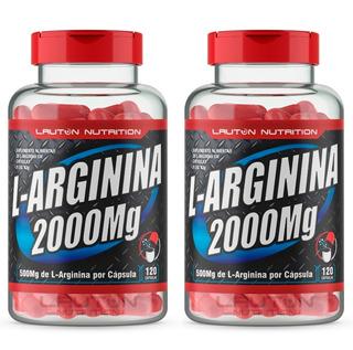 Combo 2 L - Arginina 2000 Mg Pote Com 120 Capsulas