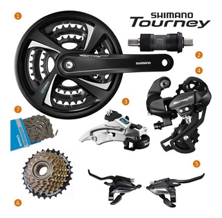 Grupo Kit Shimano Mtb Tourney Tx800 21v 3x7v Transmissão 48d