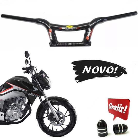 Guidão Mônaco Drift Baixo Alumínio Moto Titan 150/160