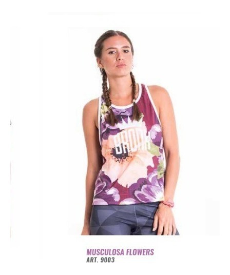 Musculosa Mujer Flowers Bronx Boxing Gym Crossfit Olivos