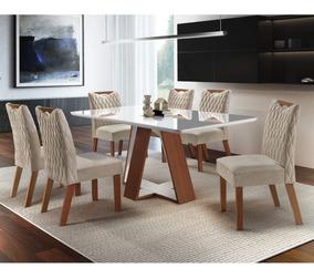 Sala Jantar 6 Cadeiras Grécia Premium Siena Móveis A