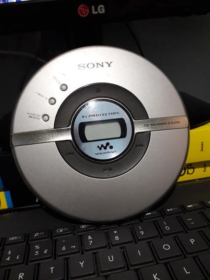 Discman Sony D-ej100 Funcionando Perfeitamente!