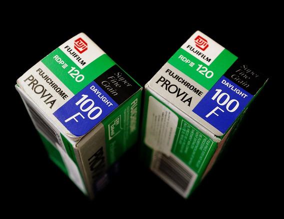 3 Filmes Fujichrome 120: 2 Provia100f + 1 Velvia50- Vencidos