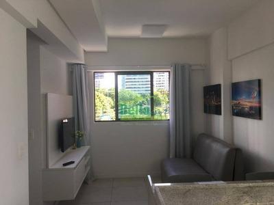 Flat Mobiliado Com 1 Quarto Para Alugar, 32 M² Por R$ 1.700/mês - Tamarineira - Recife/pe - Ap1425