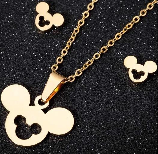 Set Mickey Mouse Collar Y Aretes Disney