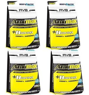 Combo 4 Albumina + Biotina 500g - Body Nutry Atacado Revenda