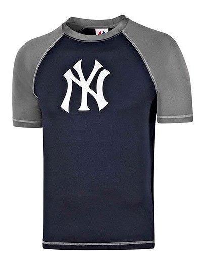 Playera Yankees Majestic Baseball Tee Play-mrg Impo19