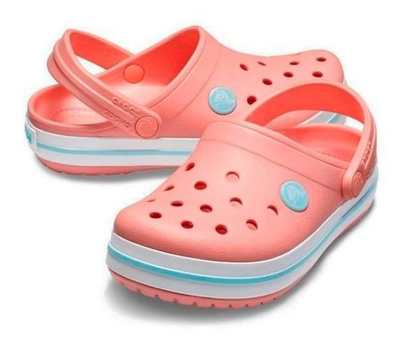 Sandalia Crocs Crocband Mujer Melon Ice 1 Original