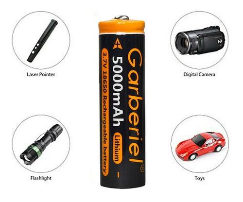 2 Pilas Baterias Recargables 18650 Garberiel Vaporizador 3.7
