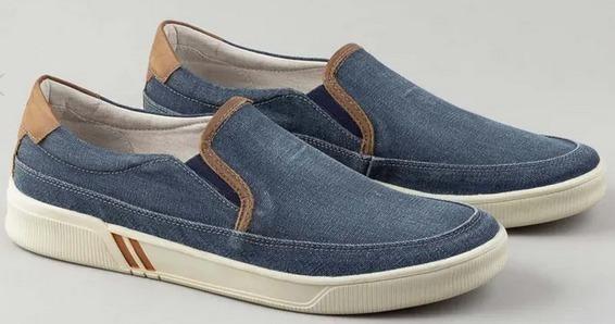 Mocassim Democrata Jeans Elastico - 209103 Jeans