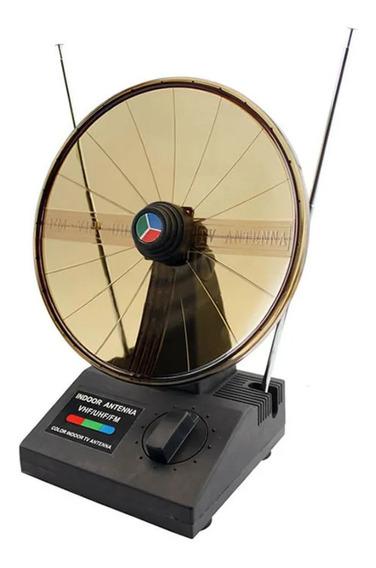 Antena Interna Tipo Parabólica Hdtv Uhf Vhf Fm