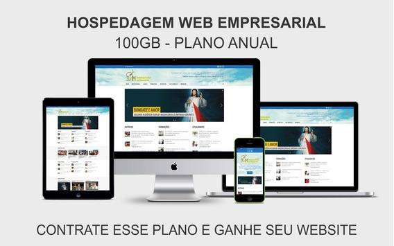 Hospedagem Web Empresarial 100gb Plano Anual