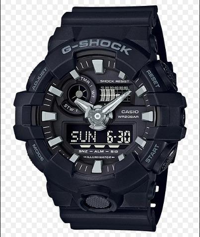 Relogio G-shock Ga-700-1b Preto Ga700 Ga 700 1bdr