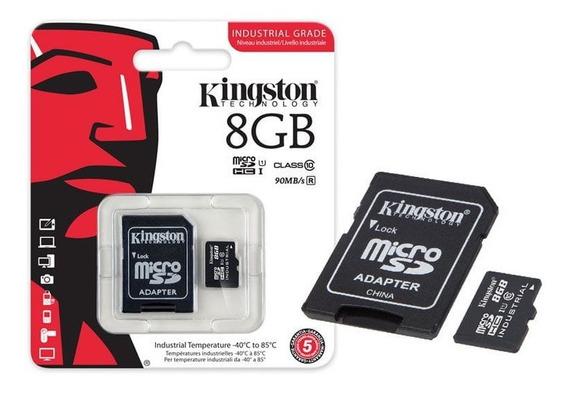 Cartão Memória Micro Sd Kingston 8gb Class 4 + Adaptador Sd