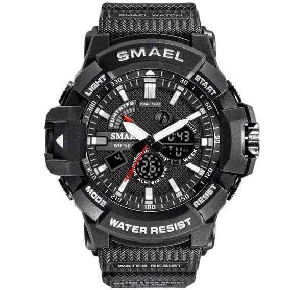 Smael 1809 Relógio Esportivo Masculino Preto