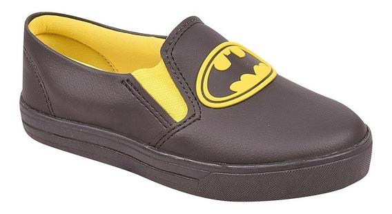 Tênis Infantil Slip On Menino Iate Super Heróis Batman Ref 16203