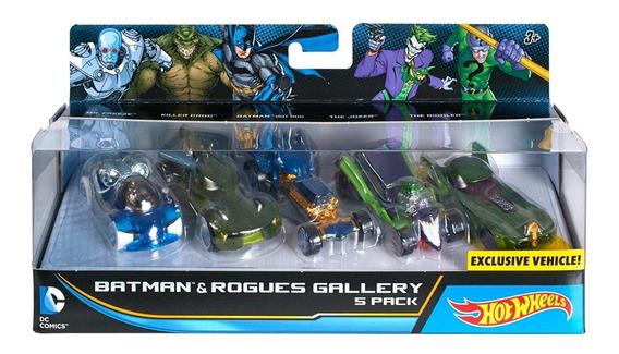 Set Kit Carros Hotwheels Batman Original Mattel Dc 12 Verde