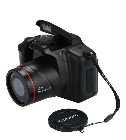 Câmera Digital Slr Digital De 16mp Hd 1080p Preta