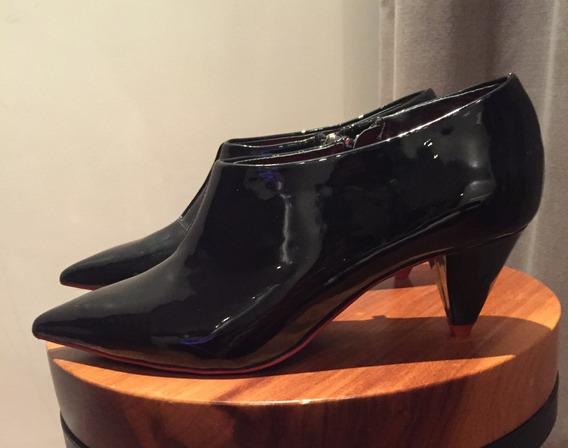 Botas Botitas Zara Charoladas Negro N 37