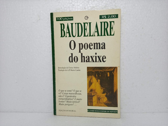 Livro O Poema De Haxixe Charles Baudelaire