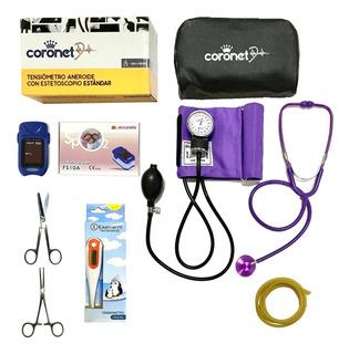 Kit / Set De Enfermeria Super Completo Colores Con Oximetro