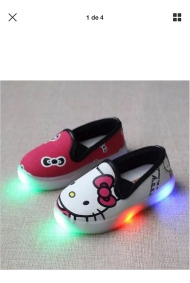 Tenis Kello Kitty Led Al Tacto Color Rosa
