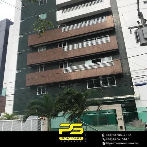 Apartamento Com 4 Dormitórios À Venda, 230 M² Por R$ 1.300.000 - Miramar - João Pessoa/pb - Ap4213