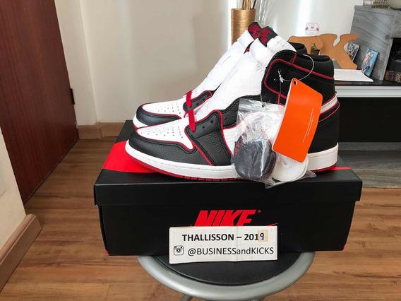 Tênis Nike Air Jordan 1 Retro High Bloodline Off White Yeezy