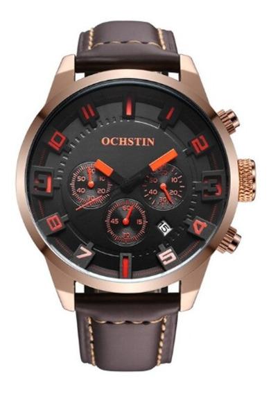 Relógio Ochstin Importado, Original Pulseira De Couro