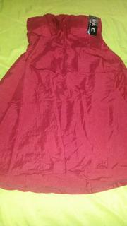 Vestido Pano Em Tafetá Cor Vermelho