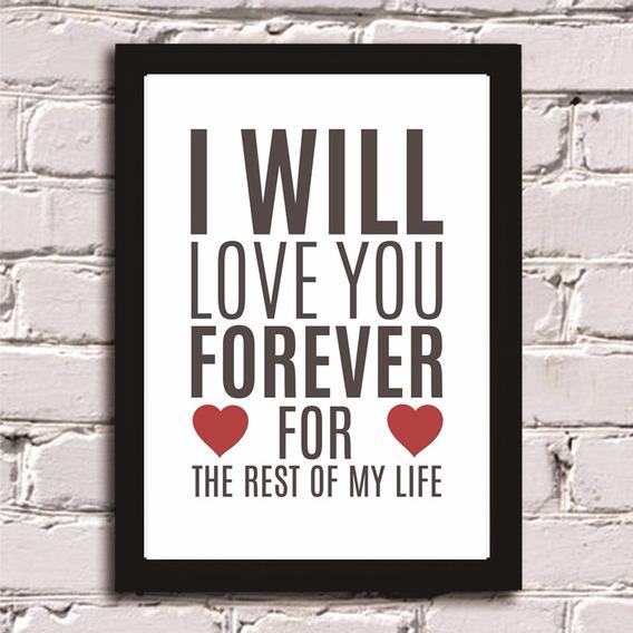 Poster Com Moldura Dia Dos Namorados Frase Quadro Decoração