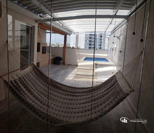 Cobertura Com 3 Dormitórios À Venda, 144 M² Por R$ 630.000,00 - Vila Humaitá - Santo André/sp - Co0054