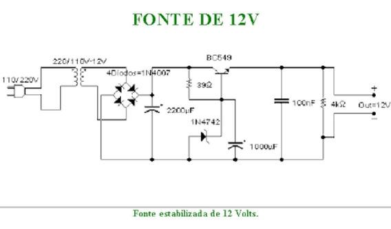 Fonte 12v 1a Bivolt Eletronica Chaveada Filtro Estabilizada