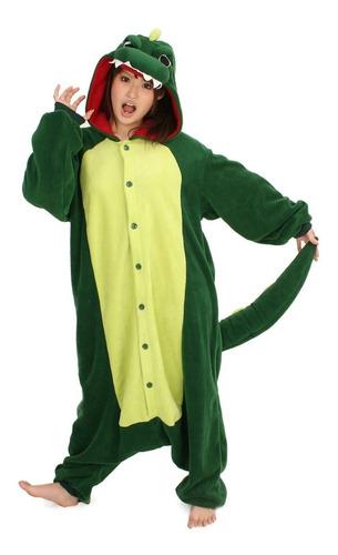 Dinossauro Verde Pijama Macacão Kigurumi - Pronta Entrega