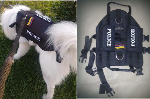 Chaleco Tactico Para Perros Personalizado Con Nombre