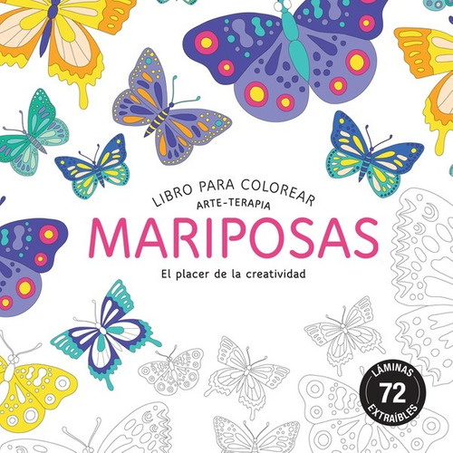 Libro Para Colorear Mariposas El Placer De La Creatividad
