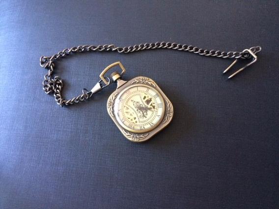 Relógio De Bolso Elegante Moldura
