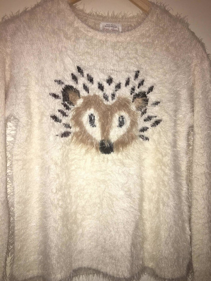 Original Sweater Zara Girl Peludo Talle 11/12