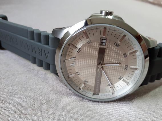 Relógio Masculino Original Ax Armani Exchange Prata E Cinza