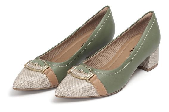 Sapato Scarpin Bico Fino Salto Médio Piccadilly 739005 Luxo