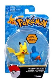 Pokemon - Mudkup Vs Pikachu - 5cm - Original Tomy