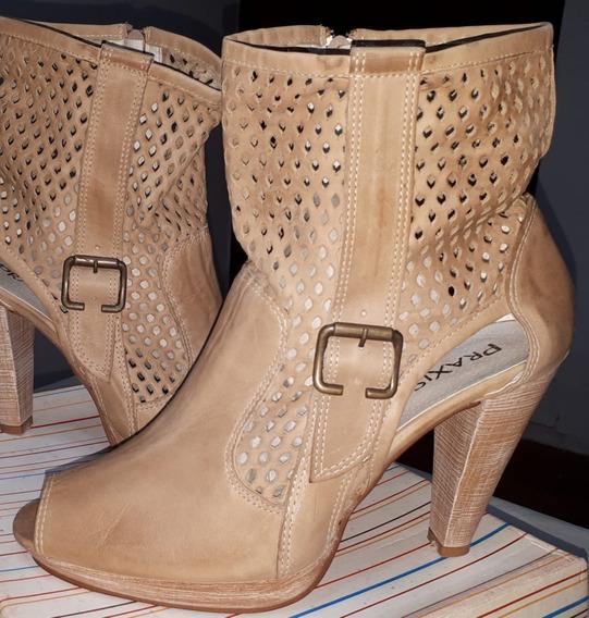 Zapatos Bota-botineta De Cuero Para Toda Estación Nuevas